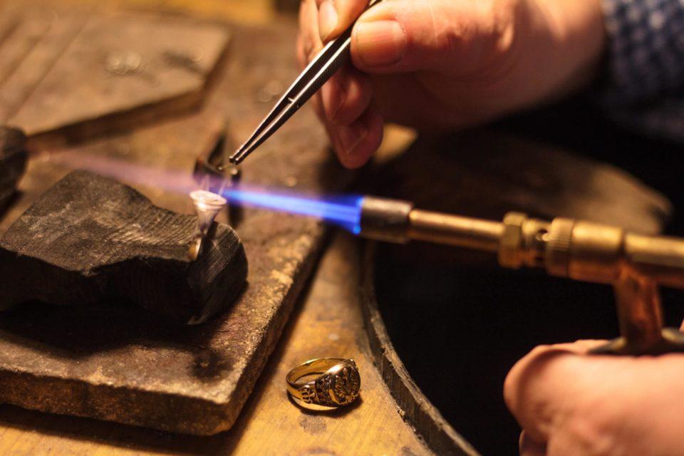 Close up of Noahs fine Jewelry Repair Welding